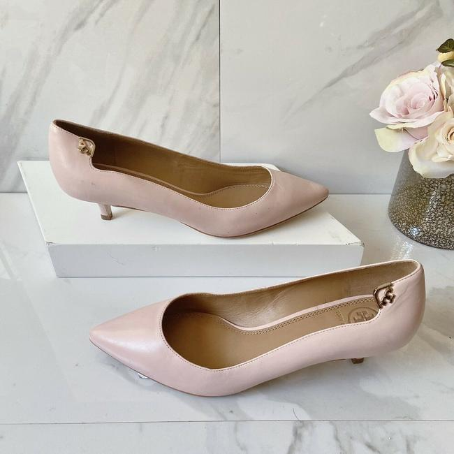 Tory Burch Pink T Logo Pointed Toe Heel Sea Shell Leather Pumps Size US 9 Regular (M, B) Tory Burch Pink T Logo Pointed Toe Heel Sea Shell Leather Pumps Size US 9 Regular (M, B) Image 2