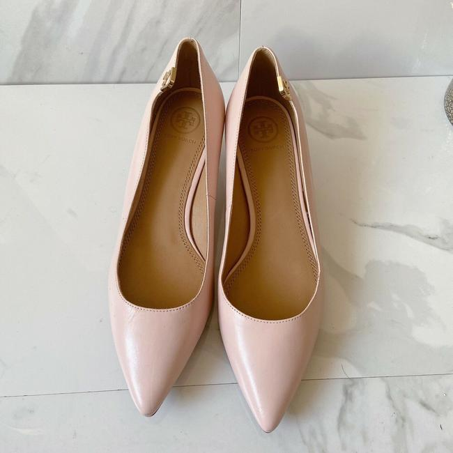 Tory Burch Pink T Logo Pointed Toe Heel Sea Shell Leather Pumps Size US 9 Regular (M, B) Tory Burch Pink T Logo Pointed Toe Heel Sea Shell Leather Pumps Size US 9 Regular (M, B) Image 3