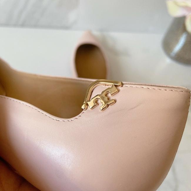 Tory Burch Pink T Logo Pointed Toe Heel Sea Shell Leather Pumps Size US 9 Regular (M, B) Tory Burch Pink T Logo Pointed Toe Heel Sea Shell Leather Pumps Size US 9 Regular (M, B) Image 6