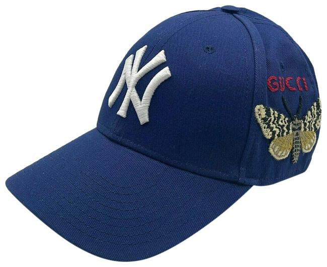 Item - Blue Cotton Ny Yankee Butterfly Embroidery Baseball 538565 4300 Hat
