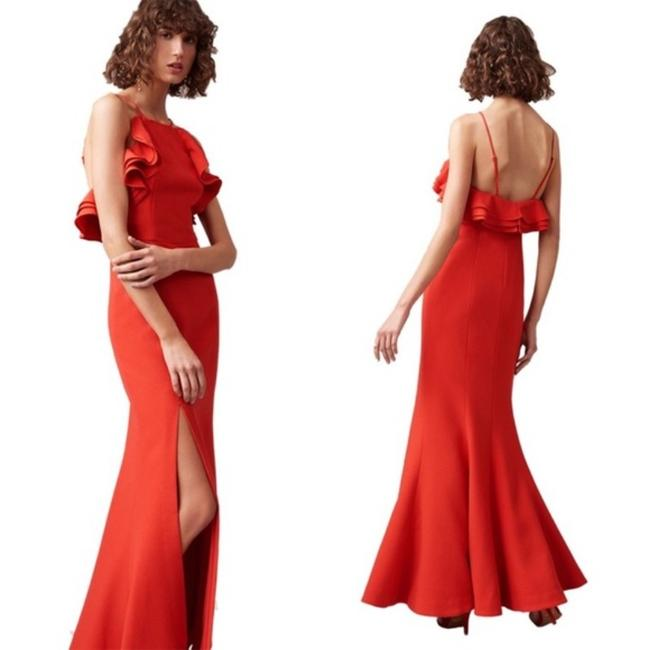 Item - Red Outline Gown In Cherry Long Formal Dress Size 16 (XL, Plus 0x)