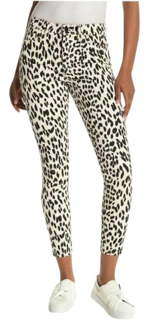 Item - White Black Coated The Charlie Leopard Print High Rise Ankle Skinny Jeans Size 26 (2, XS)