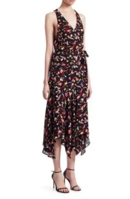 A.L.C. Coral New Roslyn Silk Wrap Sleeveless Midi Long Casual Maxi Dress Size 6 (S) A.L.C. Coral New Roslyn Silk Wrap Sleeveless Midi Long Casual Maxi Dress Size 6 (S) Image 2