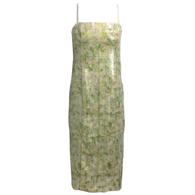 Item - Green Sequined Sleeveless Formal Dress Size 8 (M)