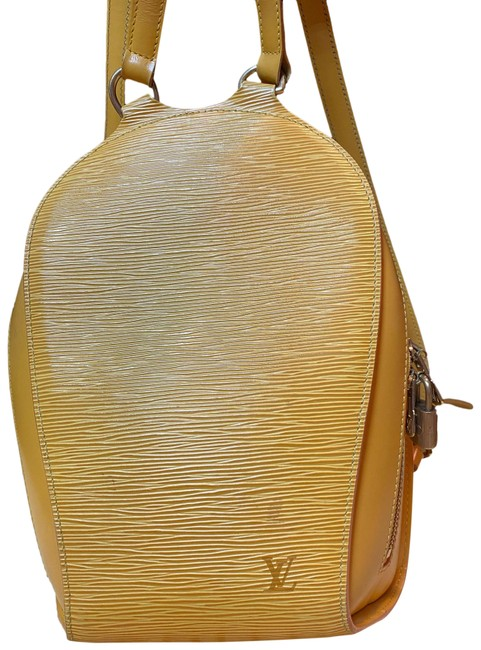Item - Yellow Leather Backpack
