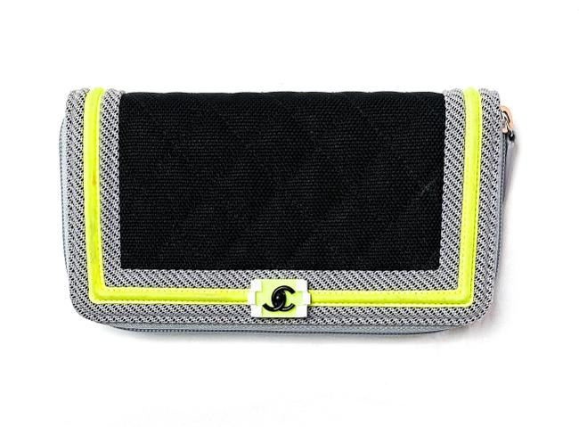 Item - Black Boy Rare Fluo Quilted Canvas Continental Zip Wallet