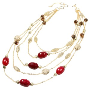 Amrita Singh Indian Wells Necklace in Red