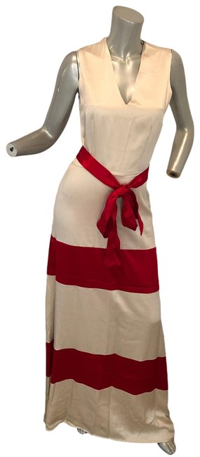Item - White/Red Susana Mercedes Los Angeles Inspired Gown Long Formal Dress Size 6 (S)