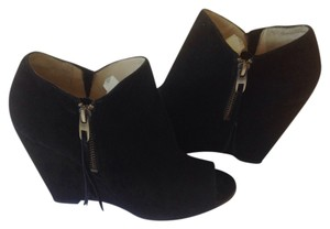Joan & David Black suede Wedges