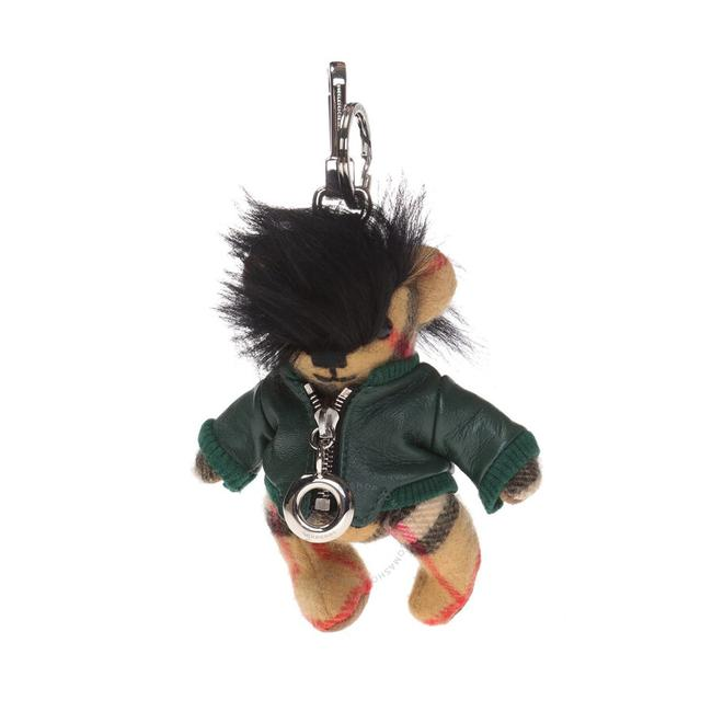 Item - Antique Yellow/ Canvas Green Thomas Bear In Leather Jacket Charm