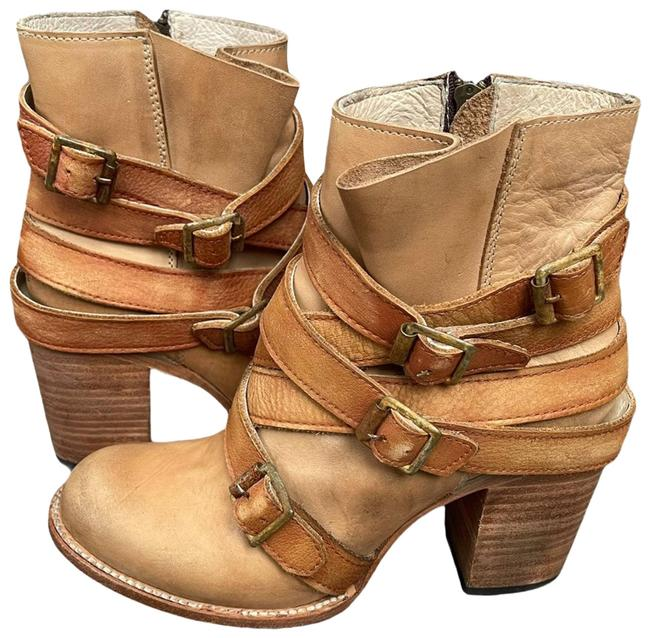 Item - Tan Hustle Distressed Ankle Boots/Booties Size US 8 Regular (M, B)