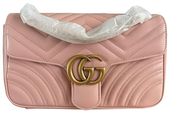 Item - Shoulder Marmont New Flap Light Small Pink Cross Body Bag