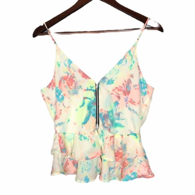 ASTR Yellow Floral Ruffle Tank Top/Cami Size 6 (S) ASTR Yellow Floral Ruffle Tank Top/Cami Size 6 (S) Image 5