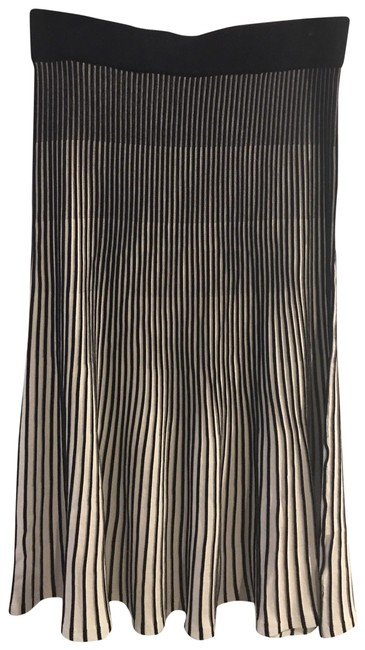 Item - Navy and White Pleated Skirt Size 12 (L, 32, 33)