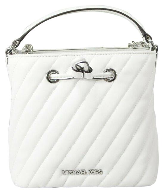 Item - Bucket Suri Small Quilted Handbag Optic White/Silver Faux Leather Cross Body Bag