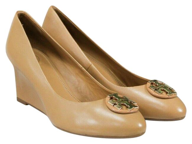 Item - Blond Claire Calf Leather 65mm Closed Toe Wedge Slip On Heel 60915 Size-6.5 Pumps Size US 6.5 Regular (M, B)