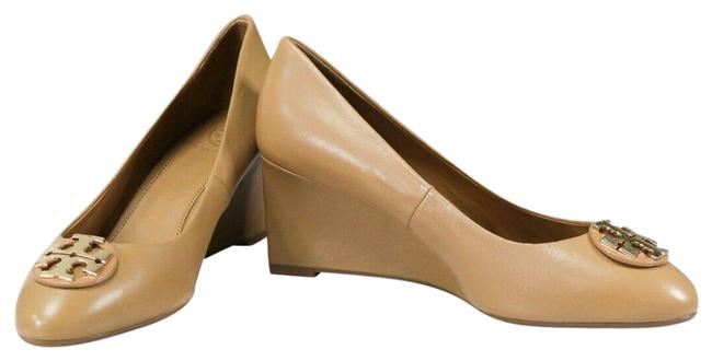 Item - Blond Claire Calf Leather 65mm Closed Toe Wedge Slip On Heel 60915 Size-7.5 Pumps Size US 7.5 Regular (M, B)