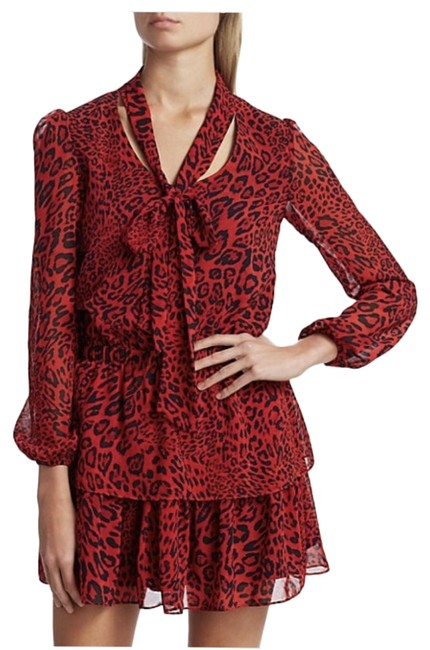 Item - Red Solan He Mini Short Night Out Dress Size 6 (S)