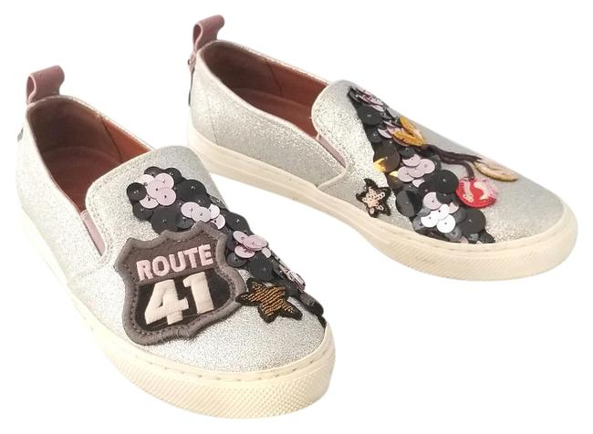 Item - Silver Route 41 Cherry Embellished Sneakers Size US 7.5 Regular (M, B)