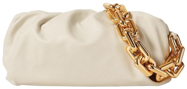Item - The Chain Pouch Gathered Off-white Leather Clutch