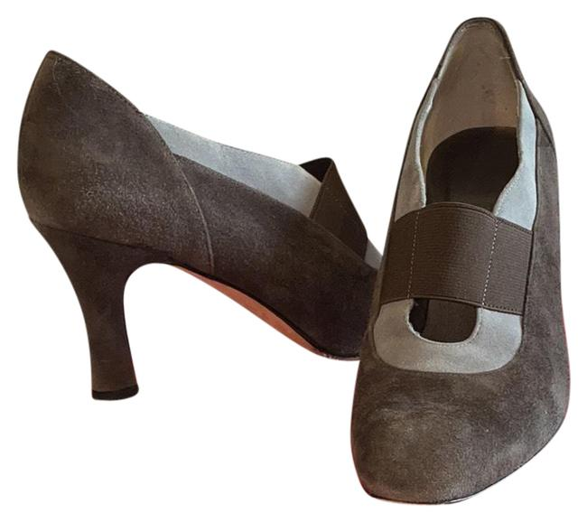 Item - Brown with Gray Eddery Pumps Size US 9 Regular (M, B)