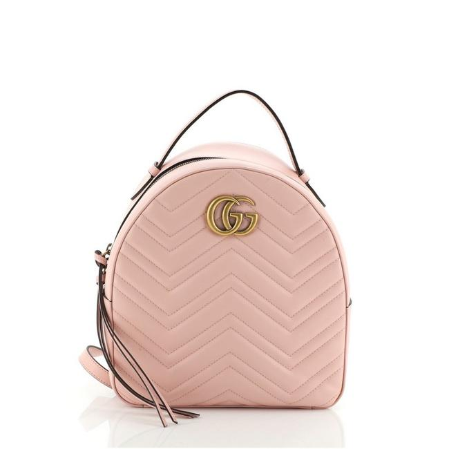 Item - GG Marmont Matelasse Small Pink Leather Backpack