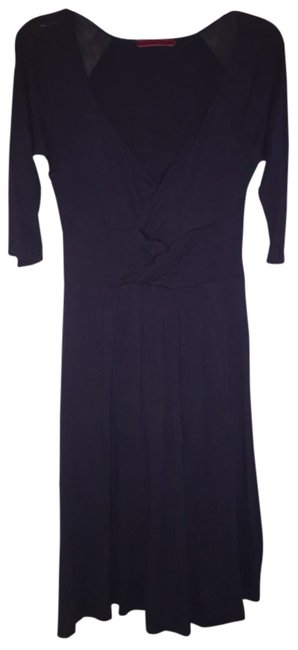 Velvet short dress Navy blue on Tradesy