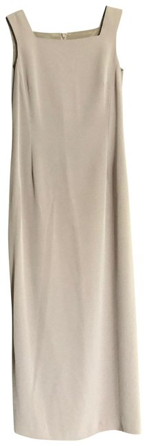 Item - Tan Two Pieces Suit Gathered Long Casual Maxi Dress Size 8 (M)