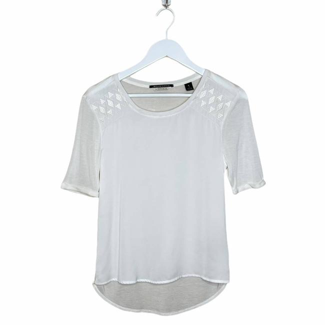 Item - White Maison Embroidered T-shirt 1 Blouse Size 4 (S)