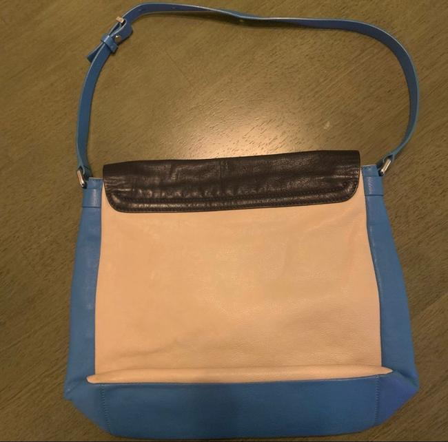 Marc by Marc Jacobs Werdie Colorblock Morgan Blue Black Cream Leather Tote Marc by Marc Jacobs Werdie Colorblock Morgan Blue Black Cream Leather Tote Image 2