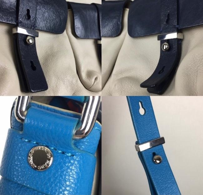 Marc by Marc Jacobs Werdie Colorblock Morgan Blue Black Cream Leather Tote Marc by Marc Jacobs Werdie Colorblock Morgan Blue Black Cream Leather Tote Image 6