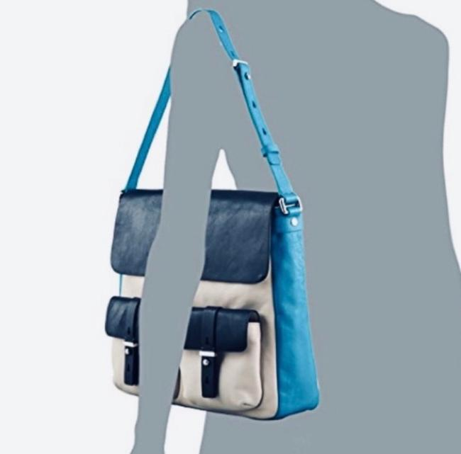 Marc by Marc Jacobs Werdie Colorblock Morgan Blue Black Cream Leather Tote Marc by Marc Jacobs Werdie Colorblock Morgan Blue Black Cream Leather Tote Image 8
