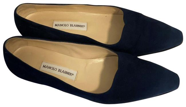 Item - Navy Suede Leather Flats Size EU 41 (Approx. US 11) Regular (M, B)