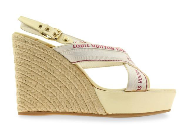Item - White Patent Leather and Jute Wedges Size EU 39.5 (Approx. US 9.5) Regular (M, B)
