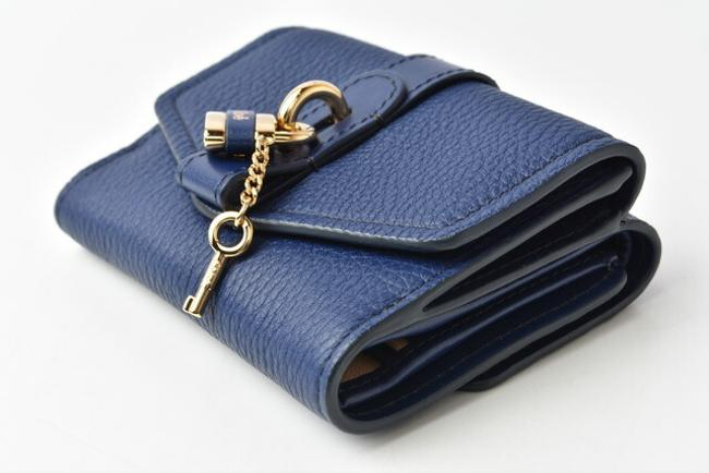 Blue Chloé Chloe Mini Aby Abbey Small Trifold Wallet Blue Chloé Chloe Mini Aby Abbey Small Trifold Wallet Image 2