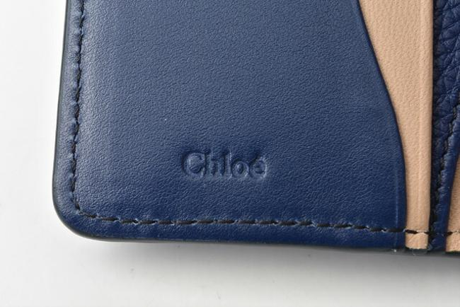 Blue Chloé Chloe Mini Aby Abbey Small Trifold Wallet Blue Chloé Chloe Mini Aby Abbey Small Trifold Wallet Image 5