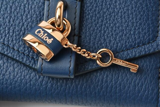 Blue Chloé Chloe Mini Aby Abbey Small Trifold Wallet Blue Chloé Chloe Mini Aby Abbey Small Trifold Wallet Image 7