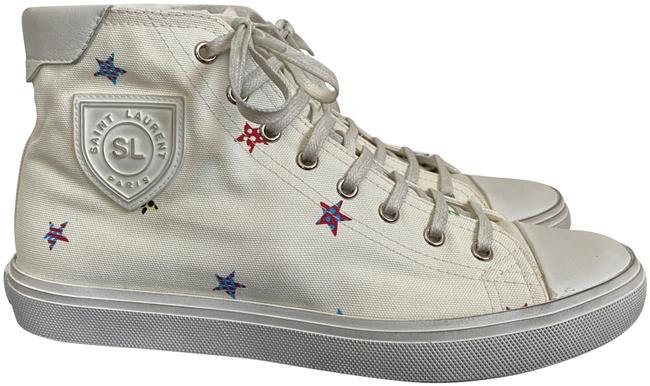Item - White Bedford Ysl Star Canvas High Top Sneakers Size EU 39 (Approx. US 9) Regular (M, B)
