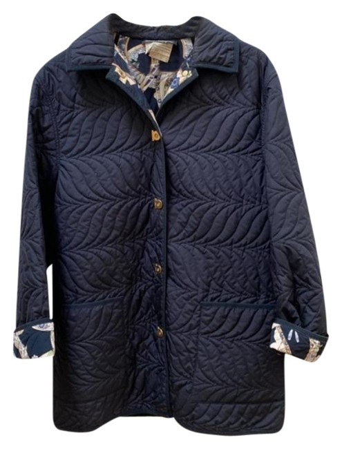 Item - Blue Gold Navy Quilted Puffer Coat Size 10 (M)