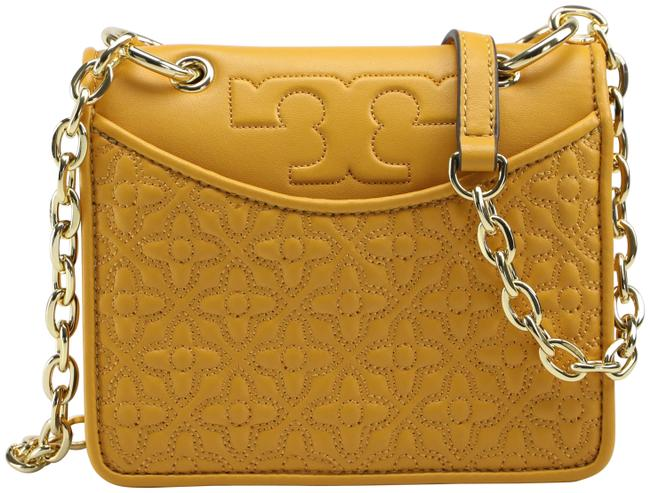 Item - Crossbody Bryant 46185 - Quilted Mini Mustard Yellow Leather Clutch