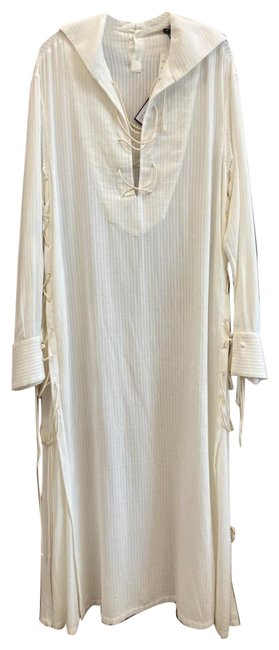 Item - White 36(4) Relaxed Laced Upper Long Casual Maxi Dress Size 4 (S)