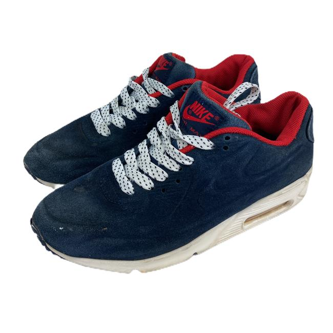 Nike Blue Air Womens Max Suede 90 Vt Red 472489 Sneakers Size US 7 Regular (M, B) Nike Blue Air Womens Max Suede 90 Vt Red 472489 Sneakers Size US 7 Regular (M, B) Image 2
