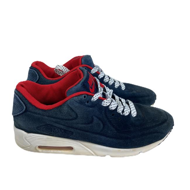 Nike Blue Air Womens Max Suede 90 Vt Red 472489 Sneakers Size US 7 Regular (M, B) Nike Blue Air Womens Max Suede 90 Vt Red 472489 Sneakers Size US 7 Regular (M, B) Image 4