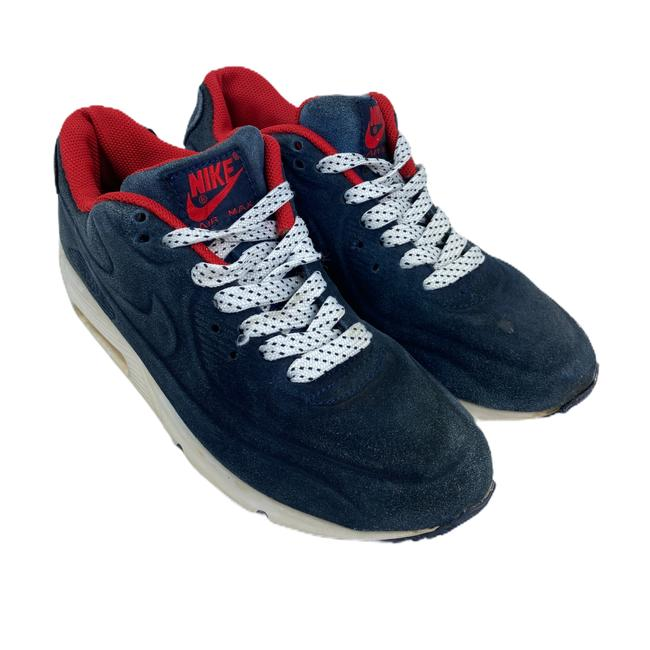Nike Blue Air Womens Max Suede 90 Vt Red 472489 Sneakers Size US 7 Regular (M, B) Nike Blue Air Womens Max Suede 90 Vt Red 472489 Sneakers Size US 7 Regular (M, B) Image 5