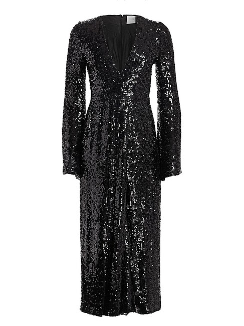 Item - Black Sequined Gown Long Formal Dress Size 4 (S)