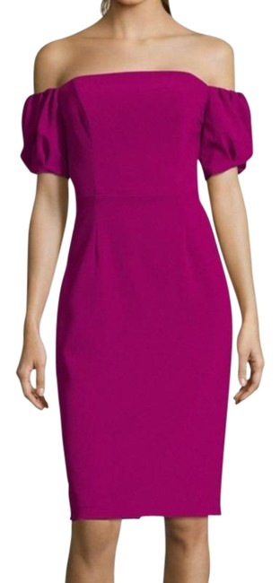 Item - Pink Off-the-shoulder Puff Puffy Sleeves Sleeves Knee-length Short Cocktail Dress Size 4 (S)