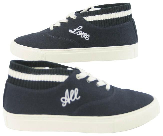 Item - Blue Bright Navy Snow White Love All Hi-top Trainer Sneakers Size US 8.5 Regular (M, B)