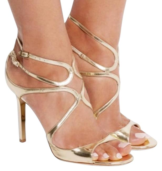 Item - Gold Lance Sexy Strappy Heels Sandals Size EU 41 (Approx. US 11) Regular (M, B)