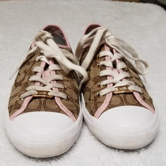 Item - Brown Signature Print with Pink Accents Empire Sneakers Size US 9.5 Regular (M, B)