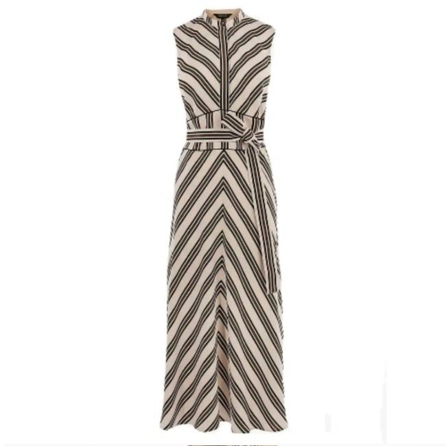 Item - Brown Ivory Black Mid-length Casual Maxi Dress Size 6 (S)